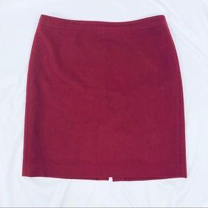 J. Crew Wool Pencil Skirt Size 16